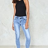 Nasty Gal Lace-Up Jeans