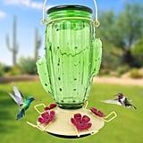 Perky-Pet Cactus Top-Fill Decorative Glass Hummingbird Feeder
