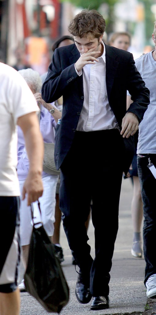 Robert Pattinson In A Suit In New York