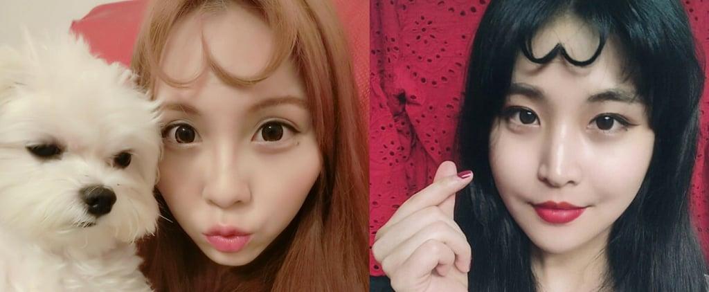 Korean Women Are Making Selfies Even Sweeter With Heart Bangs