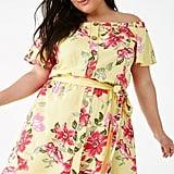Plus-Size Floral Print Mini Dress