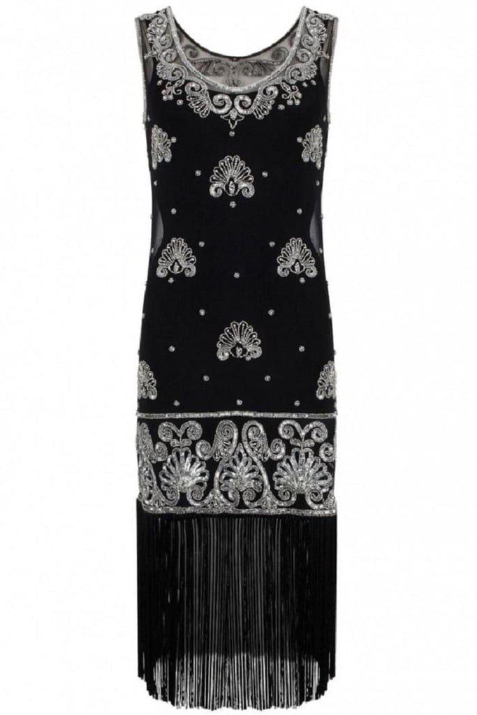 Bannou Black Embellished '20s Dress (£324)