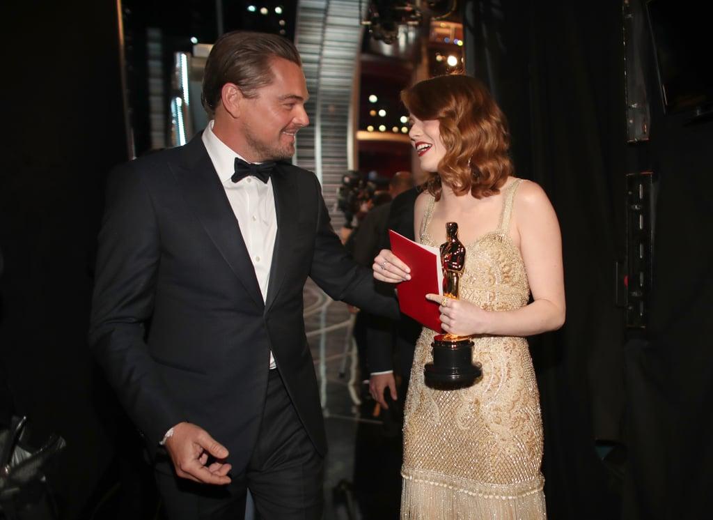 Leonardo DiCaprio at the 2017 Oscars