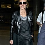 Heidi Klum was casually cool for her Sunday night flight at LAX.