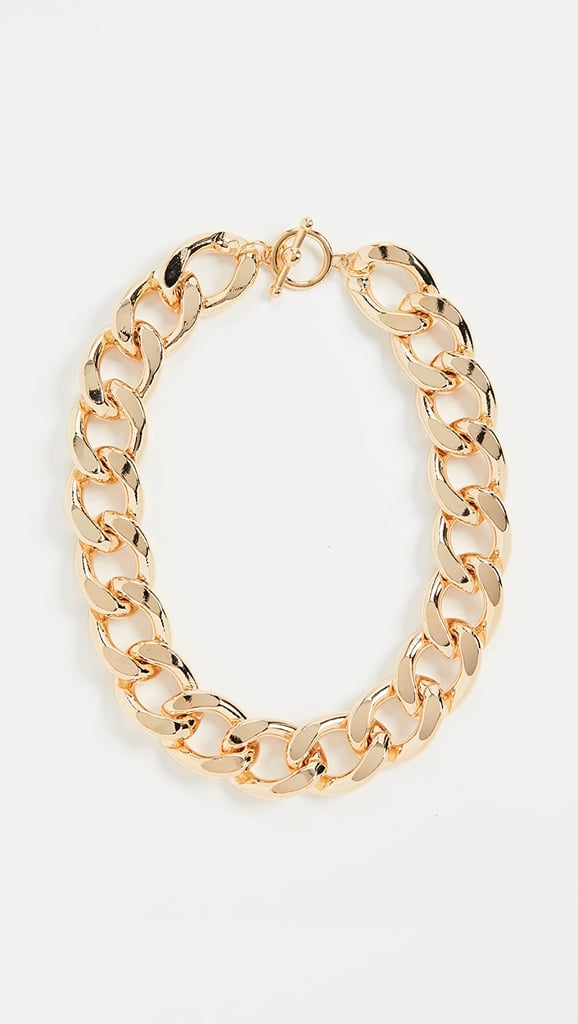 Kenneth Jay Lane Gold Large Links Chain Necklace