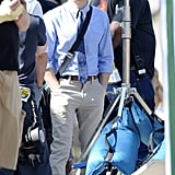 Dave Franco sported glasses on the set of Townies in LA on Friday.