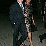 Robert De Niro led wife Grace Hightower into the Vanity Fair Party.