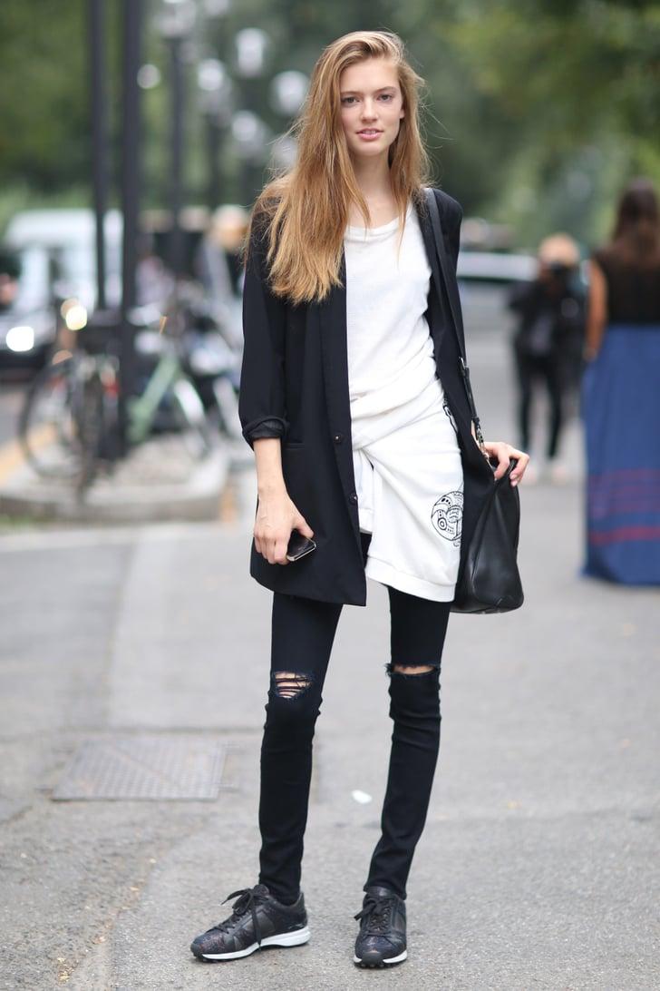 Milan Fashion Week Model Street Style At Fashion Week Spring 2015 Popsugar Fashion Photo 88