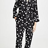 Sleepy Jones Silk Large Polka Dot PJ Top and Bottoms