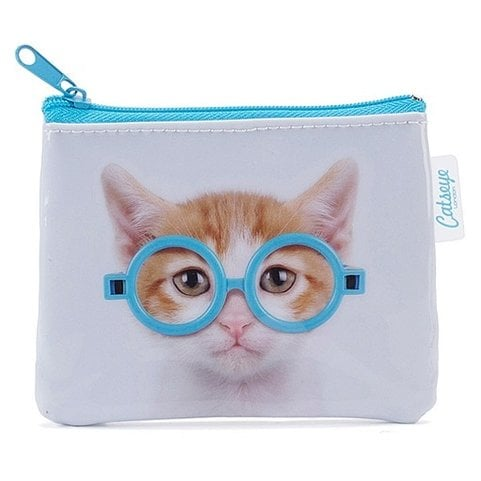 Catseye London Glasses Cat Coin Purse, $15