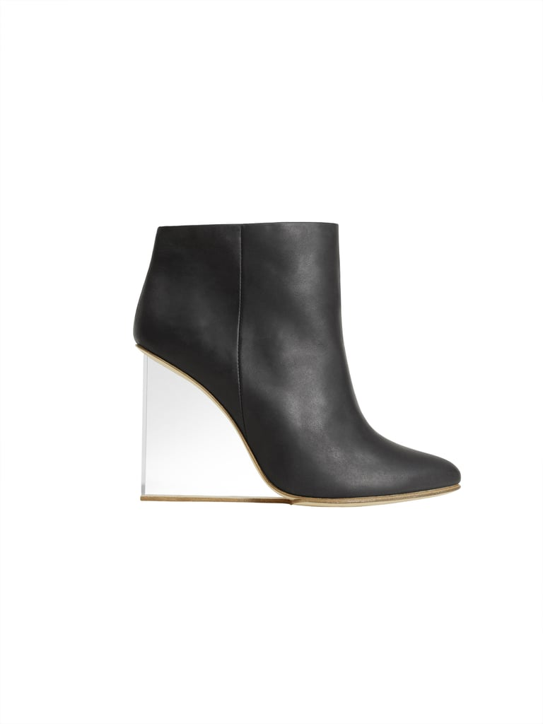 Plexi wedge ankle boot ($349)