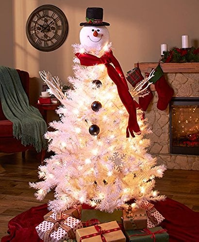 Spiff up a frosty white artificial tree with this Frosty Snowman ...