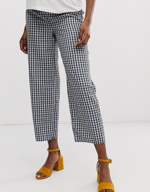 ASOS DESIGN Maternity casual gingham straight leg pants | ASOS