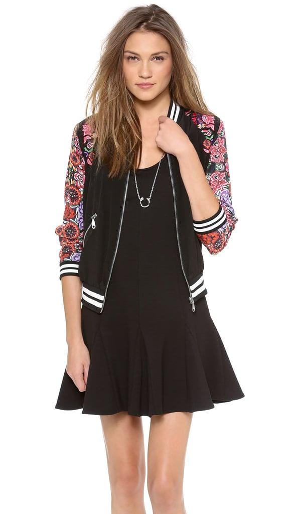 Rebecca Minkoff Floral Bomber Jacket