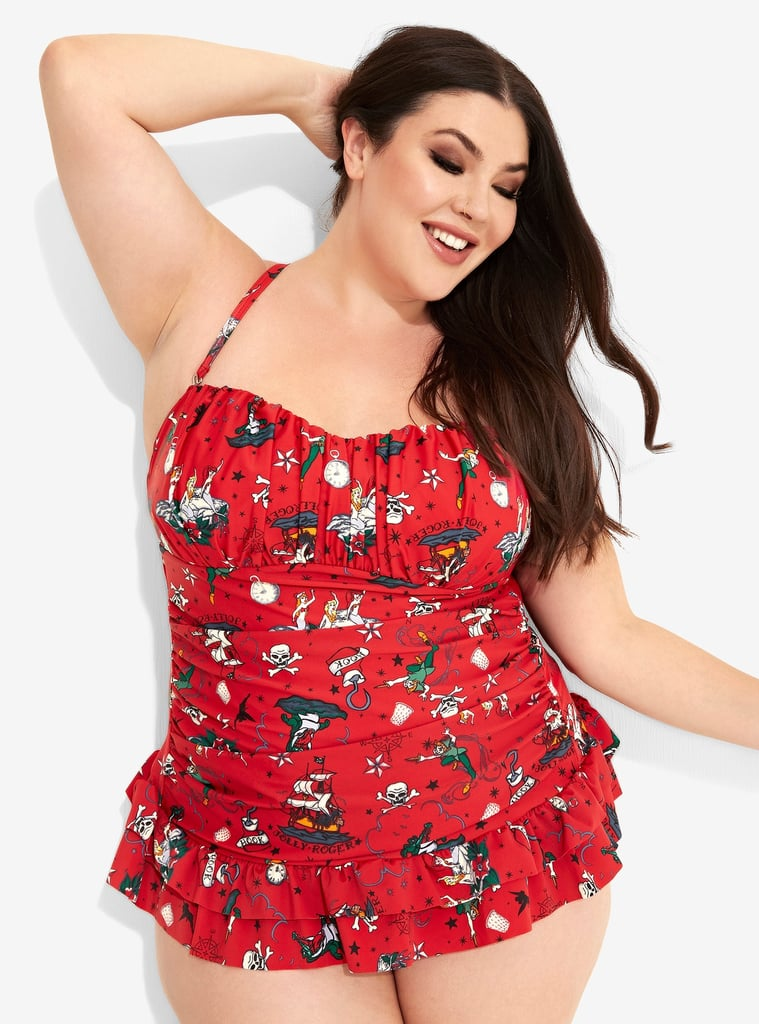 99e40b062f Disney Peter Pan Pirate Tattoo Retro Swimsuit Plus Size