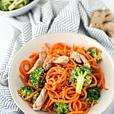Sesame-Ginger Garlic Chicken and Broccoli Carrot Noodle Stir-Fry