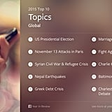 The top 10 global topics on Facebook.
