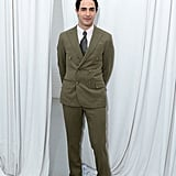Zac Posen prepared for his Spring show backstage at Fashion Week.