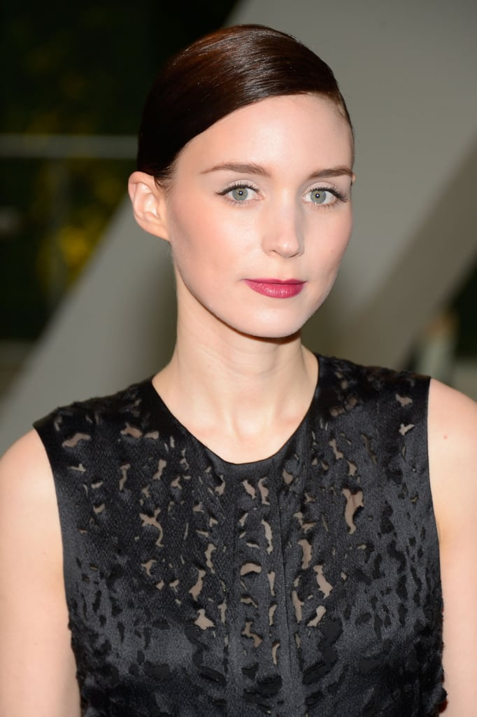 For the 2013 CFDA Fashion Awards, Rooney Mara looked gorgeous in a sleek chignon and vampy lipstick.