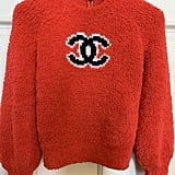 Chanel 2019 Runway Fall Winter Knit Fuzzy Red Sweater