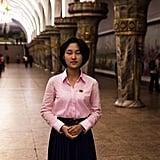 At a Subway Station in Pyongyang