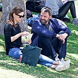 In June 2018, Ben and Jen chatted while having a picnic in LA.