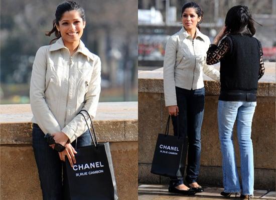 Freida Pinto and Chanel Essential Bag