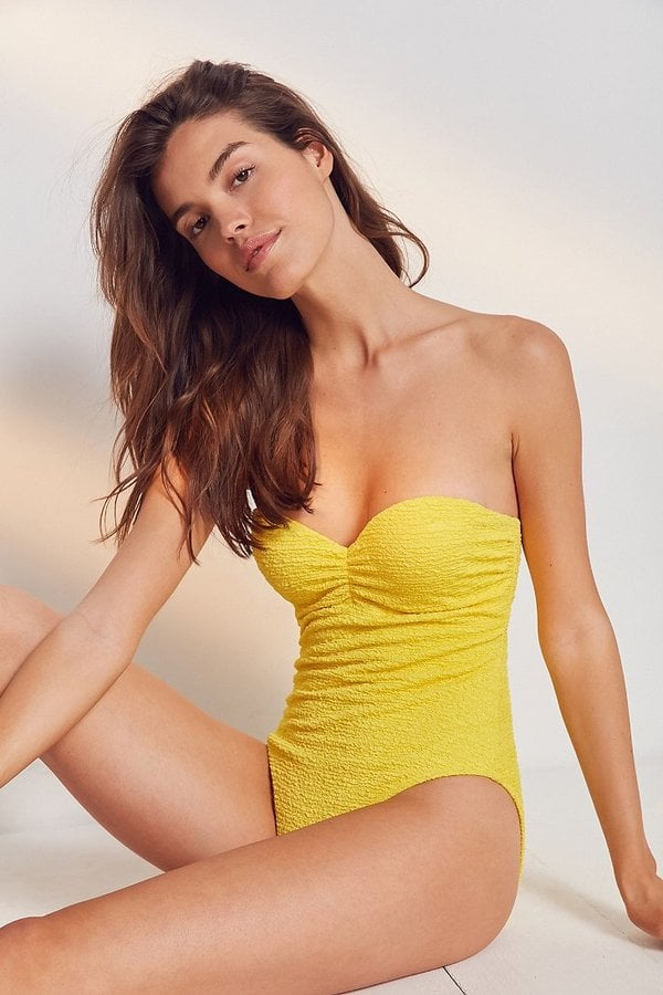 Out From Under Micro-Ruched Swimsuit