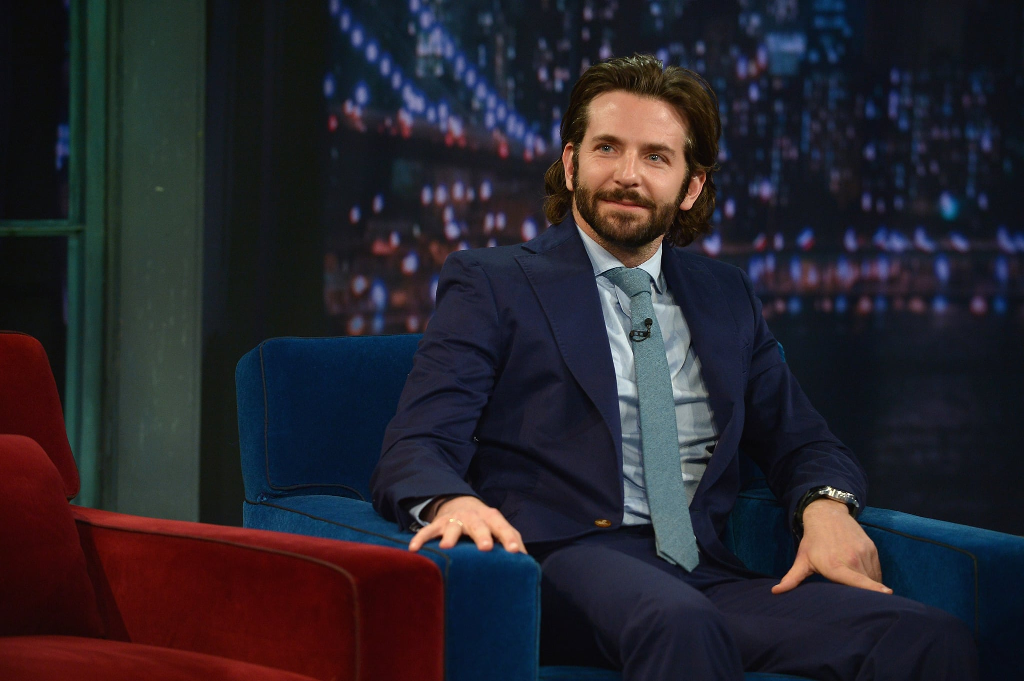 Bradley Cooper On Late Night With Jimmy Fallon Pictures Popsugar Celebrity