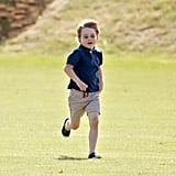 Prince George at the Beaufort Polo Club in June 2018