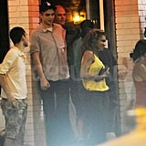 Robert Pattinson at a bar in Toronto.