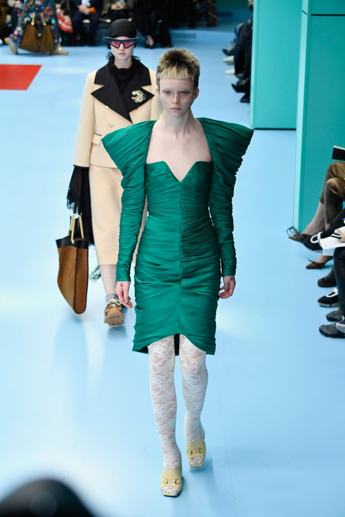 Gucci Coming In With the Structured-Shoulder Dress