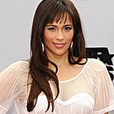 Paula Patton went soft and feminine with a pink makeup palette to match her dress, but the main attraction for the night was her straight hair and blunt bangs.