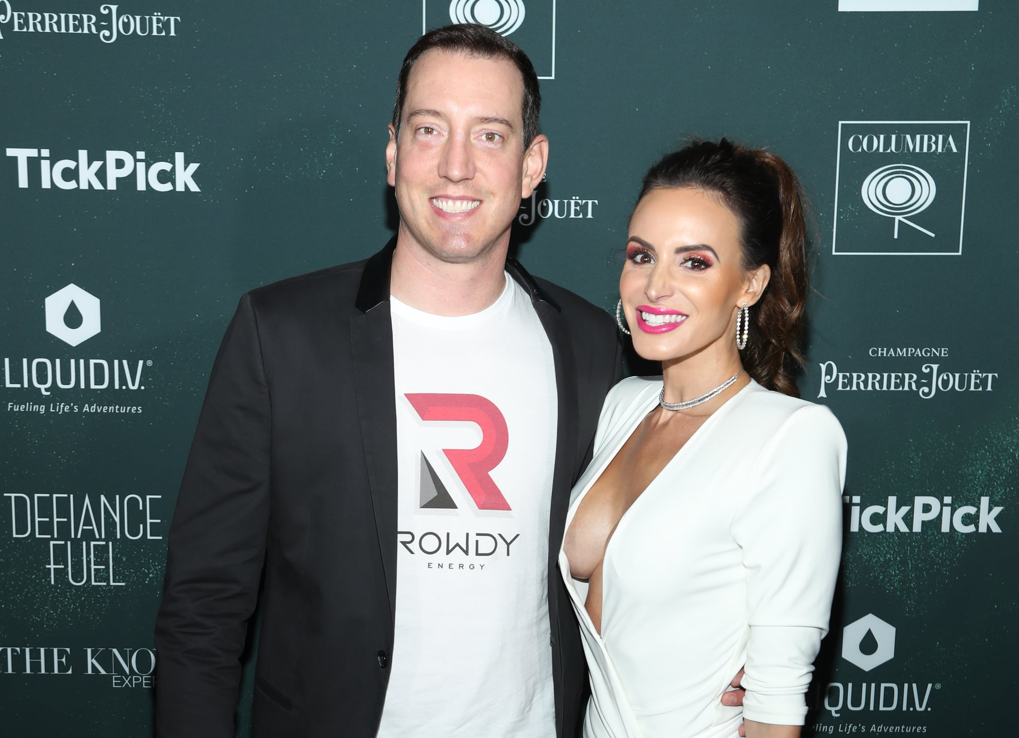 MIAMI, FLORIDA - FEBRUARY 01: Kyle Busch and Samantha Busch attend the 2020 MAXIM Big Game Experience on February 01, 2020 in Miami, Florida. (Photo by Jerritt Clark/Getty Images for MAXIM)