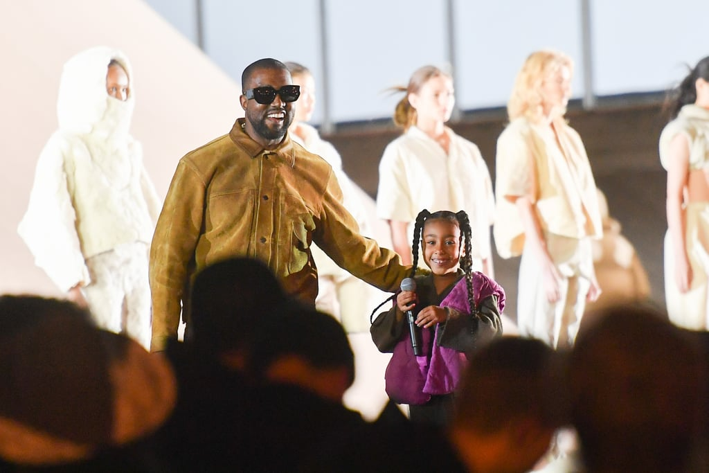 North West Rapping During the Yeezy Show at Paris Fashion Week