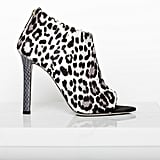 Desire Pony Open Toe Bootie in Grey Leopard Photo courtesy of Tamara Mellon