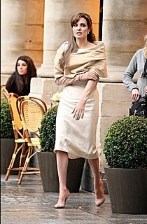 Angelina on set: The Tourist