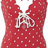 Marysia Swim Broadway Polka Dot Lace Up Maillot Swimsuit
