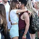 Joe Jonas and girlfriend Blanda Eggenschwiler weren't hiding their love.
