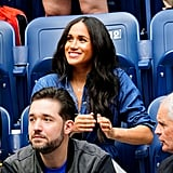 Meghan Markle Wearing Mini Mini Jewels Dog Tag Necklace at the US Open