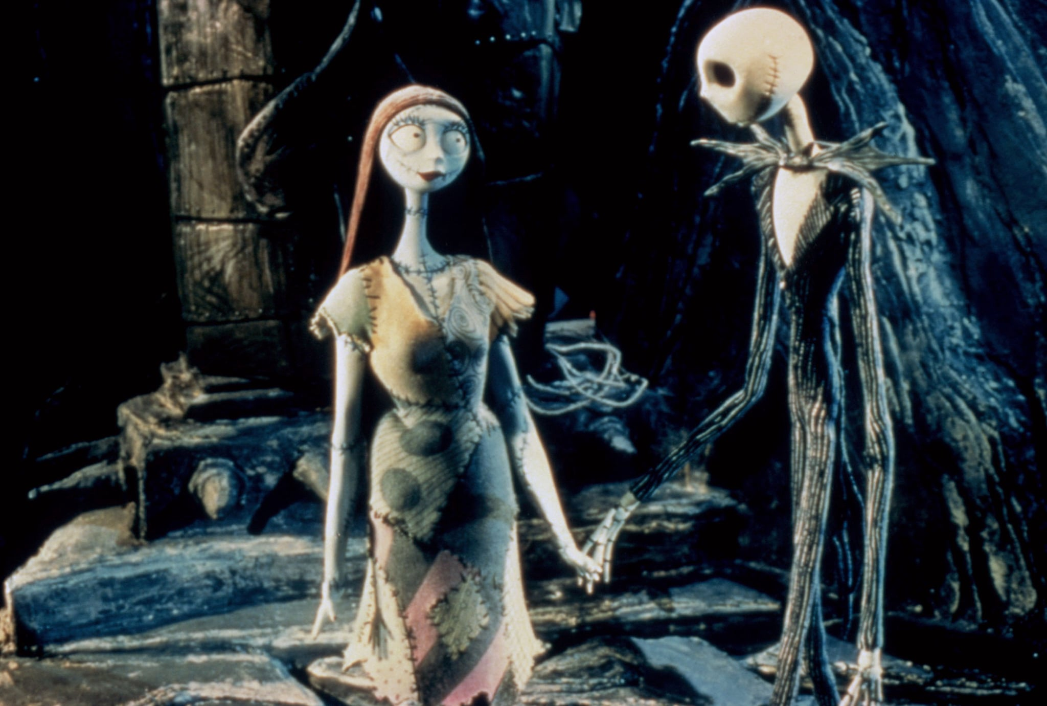 THE NIGHTMARE BEFORE CHRISTMAS, Sally (voice: Catherine O'Hara), Jack Skellington (voice: Chris Sarandon, Danny Elfman), 1993. Buena Vista Pictures/courtesy Everett Collection