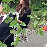 Kate Middleton wore a Topshop dress while attending a wedding back on May 11. Source: Twitter user TillyPudwell