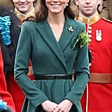 Kate Middleton on St. Patrick's Day.