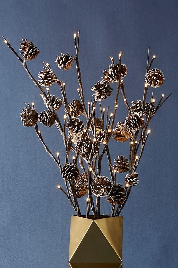 Decorative Pinecone Branch