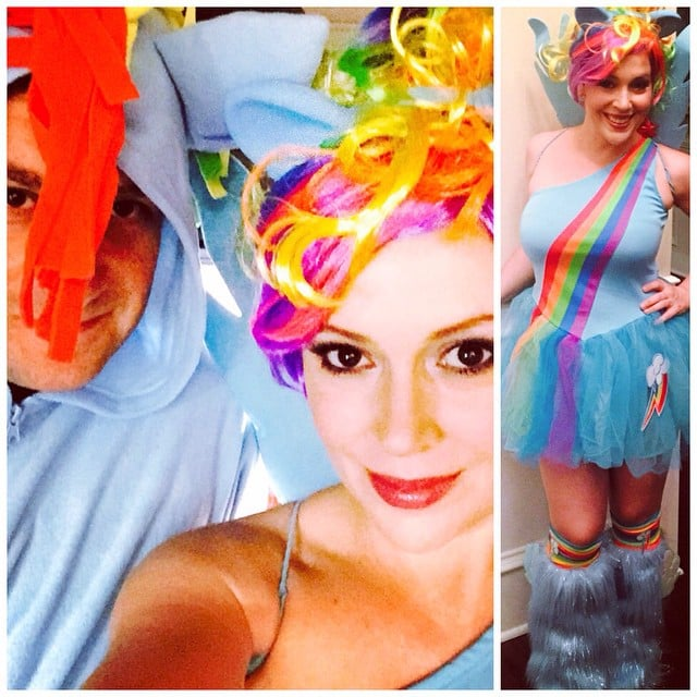 Alyssa Milano was My Little Pony in 2014.