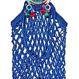 Nannacay Fishnet Pompom-Embellished Macramé Tote
