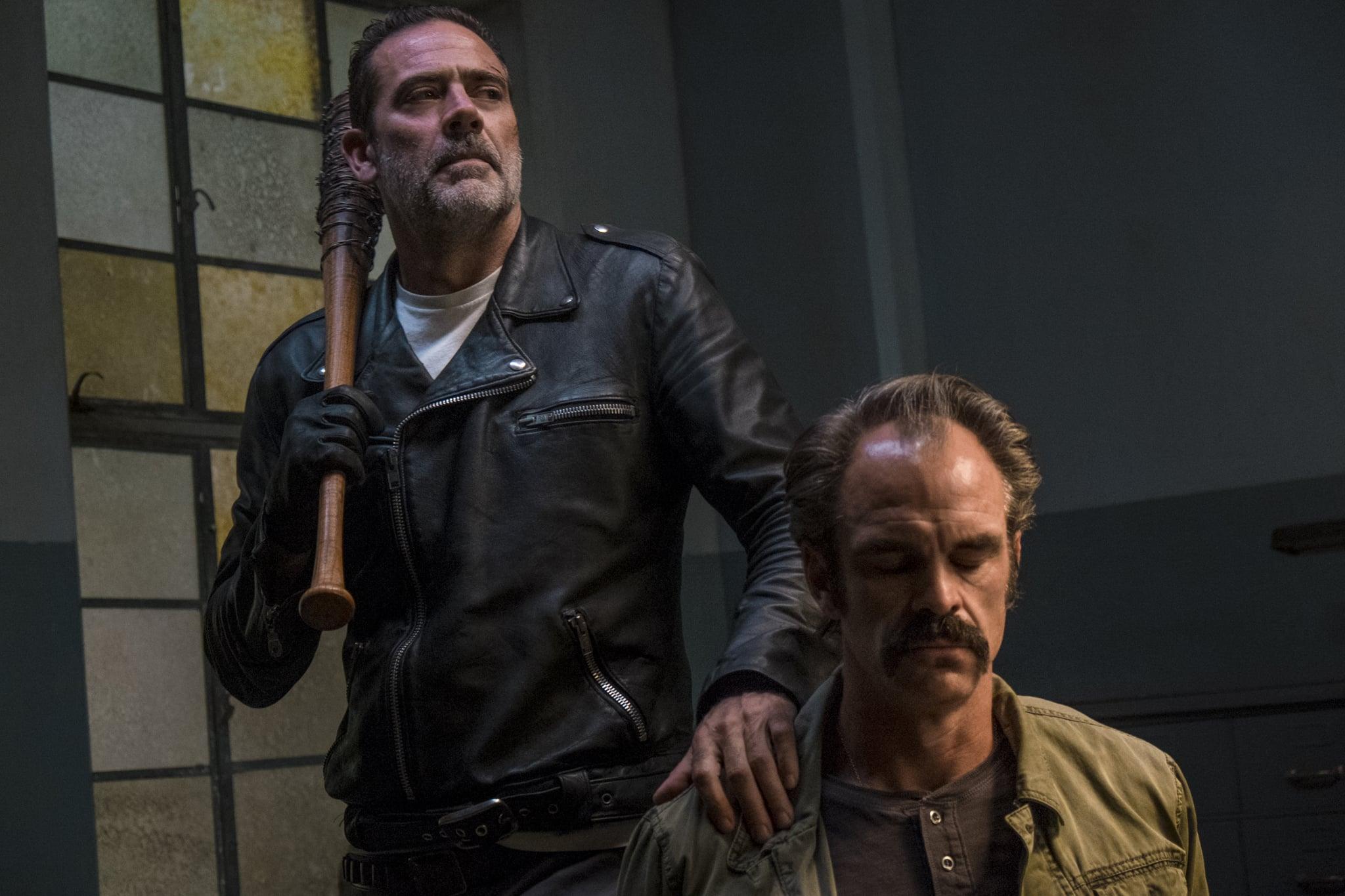Jeffrey Dean Morgan as Negan, Steven Ogg as Simon - The Walking Dead _ Season 8, Episode 15 - Photo Credit: Gene Page/AMC