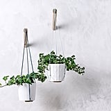 Hanging Planter With Light Blue Thread