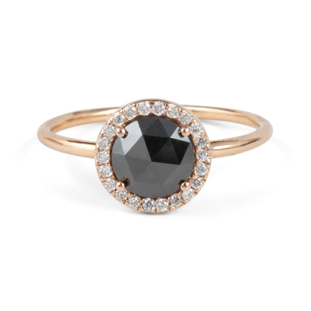 Black Diamond Aura Ring by Blanca Monrós Gómez