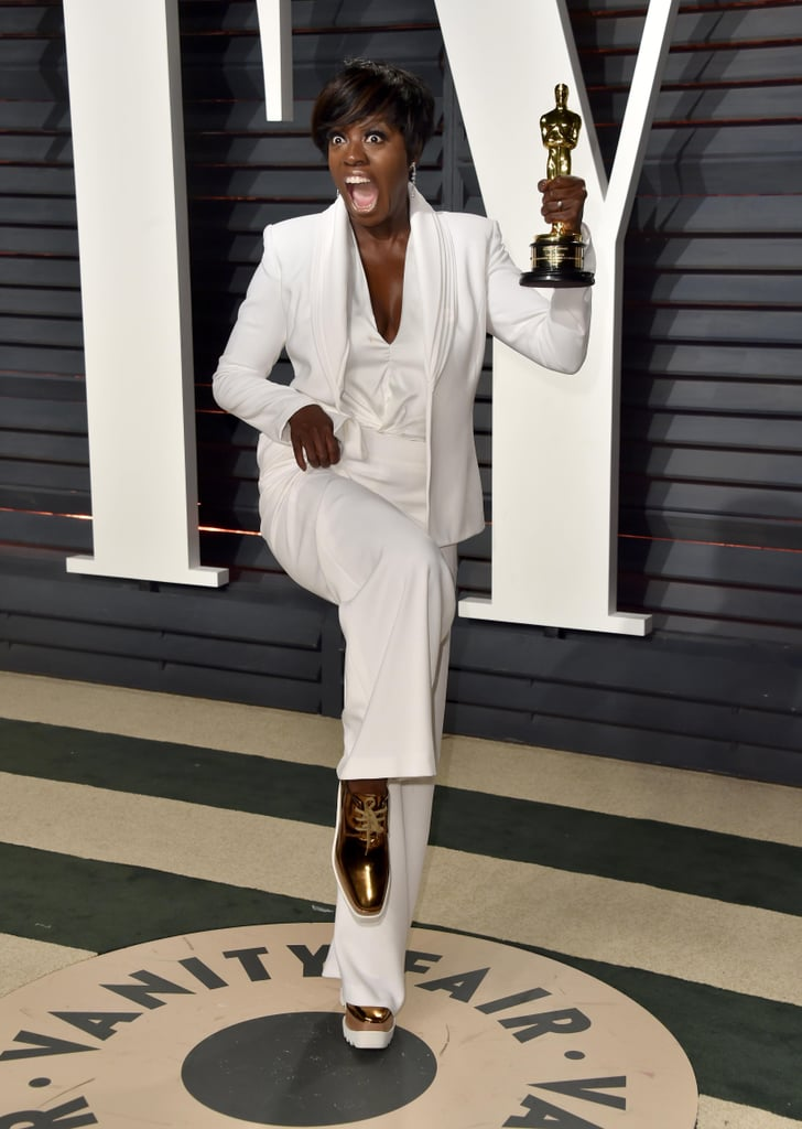 The Genius Shoe Move Viola Davis Planned For the Vanity Fair Afterparty